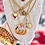 Thumbnail: Repurposed Vintage Gucci Large Gold GG & Removable Butterfly Necklace