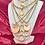 Thumbnail: Repurposed Louis Vuitton XXL Gold Flower Charm Necklace