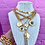 Thumbnail: Repurposed Vintage 1980's YSL Letter & Heart Link Asymmetrical Choker Necklace