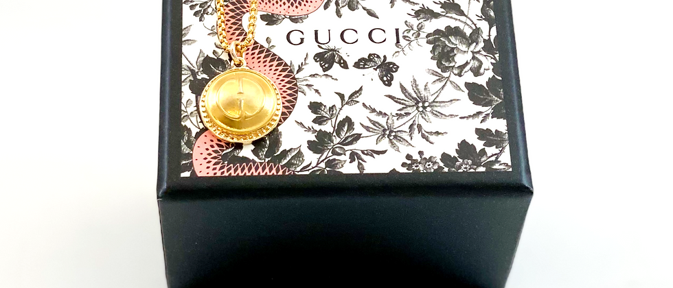 Repurposed Vintage Medium Gucci GG Charm Necklace