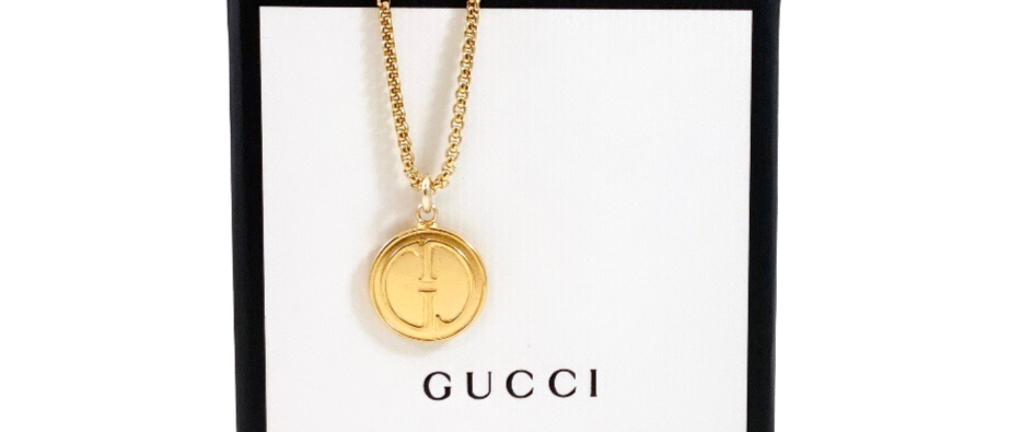 Repurposed Vintage 1990's Gucci Small Gold Charm Necklace
