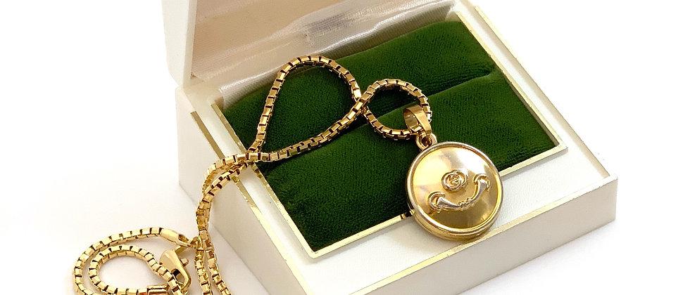 Repurposed Vintage Gucci GG & Horsebit Charm Necklace