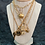 Thumbnail: Vintage Repurposed Gold Christian Dior CD Key Charm Necklace