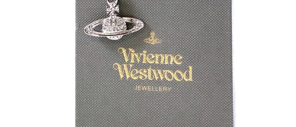 Repurposed Vivienne Westwood Sterling & Swarovski Iconic Orb Charm Necklace