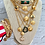 Thumbnail: Repurposed Vintage Large Gucci GG & Bee Charms Necklace