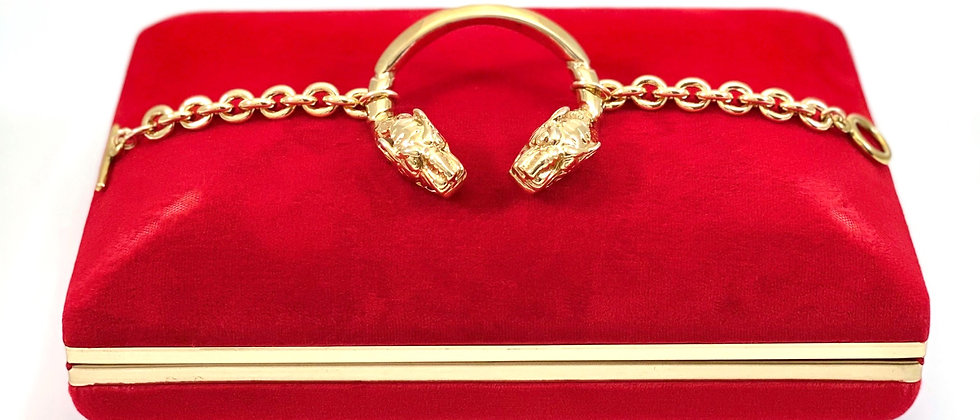 Repurposed Vintage Gucci Very Rare Gold Dionysus Bracelet