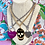 Thumbnail: Repurposed Saint Laurent Extra Large Metallic Pink Heart Lock Choker Necklace