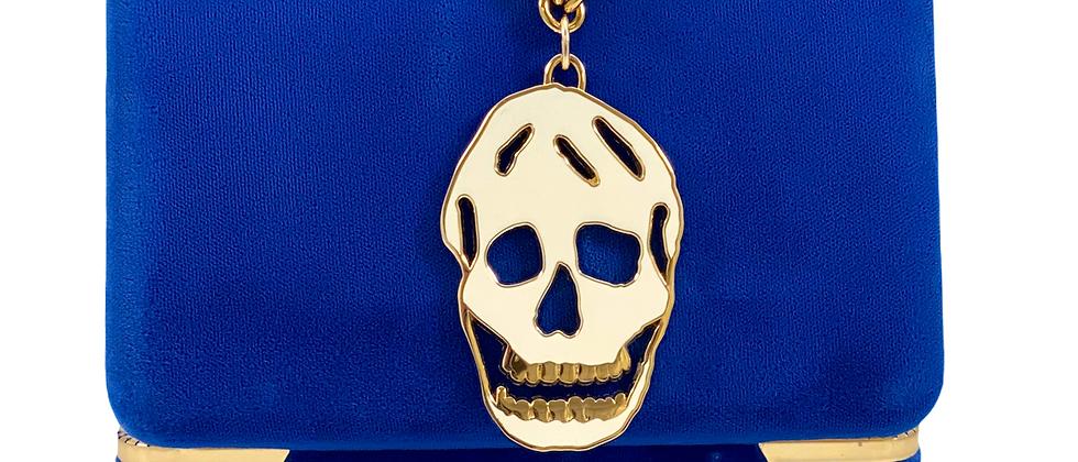 Repurposed Alexander McQueen RARE Cut Out White Skull Choker Necklace