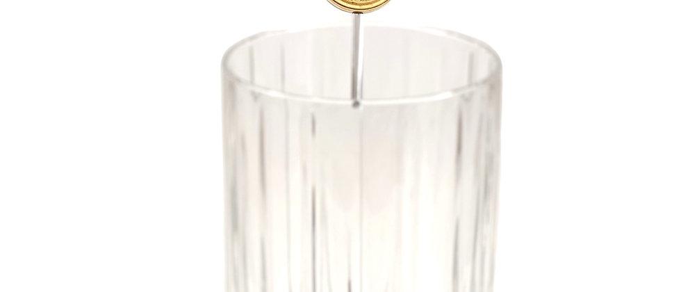 Vintage Repurposed Versace Silver & Gold Medusa Cocktail Swizzle Stick