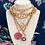 Thumbnail: Repurposed RARE Fendi Large Gold Cut Out Charm Necklace
