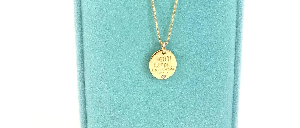Repurposed Henri Bendel NY Gold Swarovski Crystal Petite Charm Necklace