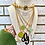 Thumbnail: Repurposed Louis Vuitton Lime Green & Pink Dbl Sided Enameled Charm Necklace