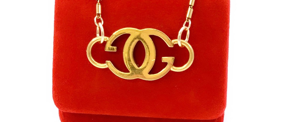 Vintage Repurposed Gucci Gold GG Choker Necklace