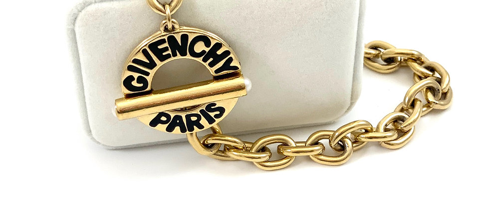 Vintage Givenchy Paris Runway Toggle Choker Necklace - New Old Stock