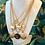"""Thumbnail: Repurposed Vintage 1990's Hermès Large Gold """"H"""" Pendant Necklace"""