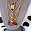 Thumbnail: Repurposed Salvatore Ferragamo Large Gold Charm Double Wrap Necklace