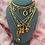 Thumbnail: Repurposed Floating Dior Gold Swarovski RARE Letters Charm Choker Necklace