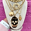 Thumbnail: Repurposed Alexander McQueen RARE Cut Out Skull Double Wrap Necklace