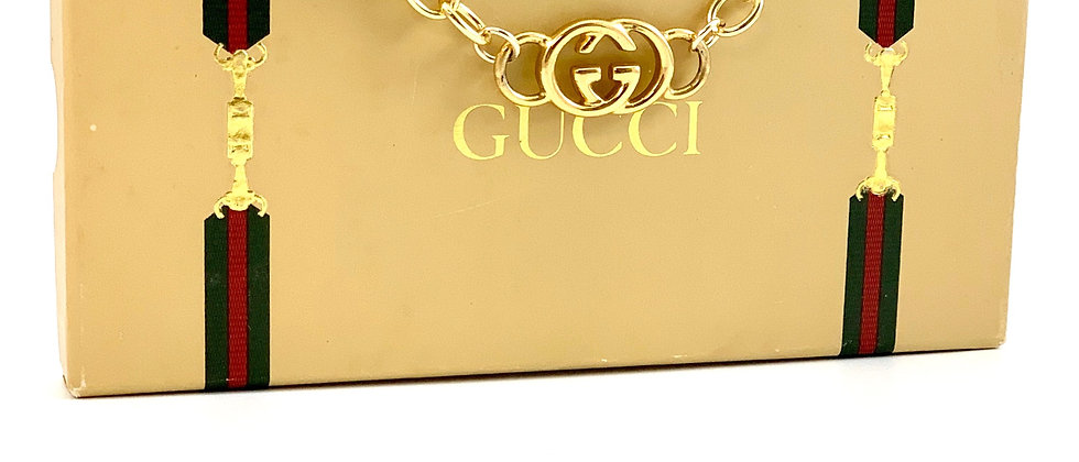 Repurposed Vintage Gucci Gold GG Choker Necklace
