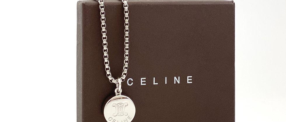 Repurposed Vintage Celine Silver RARE Whistle Charm Necklace