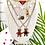Thumbnail: Repurposed Medium Silver & Red Prada Bear Charm Necklace