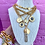 Thumbnail: Repurposed Vintage Gucci Charm Necklace w/Removable Badass & Lightning Bolt