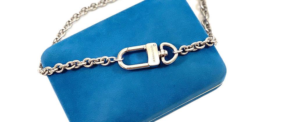 Repurposed Louis Vuitton Silver Swivel Clip Choker Necklace