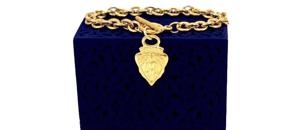 Repurposed Vintage Gucci Knight Crest Charm Bracelet