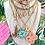Thumbnail: Repurposed Louis Vuitton Medium Gold Cut Out LV Monogram Charm Necklace