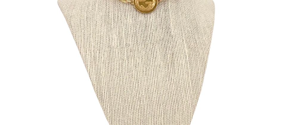 Repurposed Gucci Reversible Laurel Leaf GG & Bird Choker Necklace