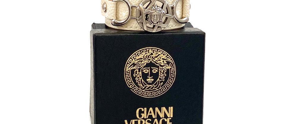 Repurposed Vintage Versace Medusa Cuff Wrap Bracelet