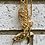 Thumbnail: Repurposed Vintage Gucci Gold Cursive Charm Necklace