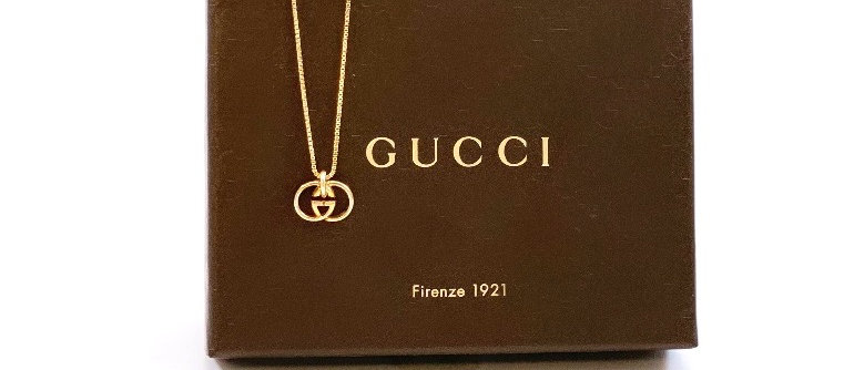 Repurposed Vintage Petite Gucci GG Charm Necklace