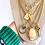 Thumbnail: Repurposed Louis Vuitton Medium Gold Ring & Green Enamel Heart Charm Necklace