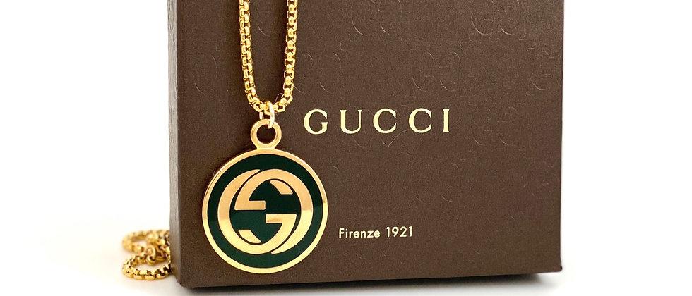 Repurposed Vintage RARE Gucci Black & Gold XXL Charm Necklace