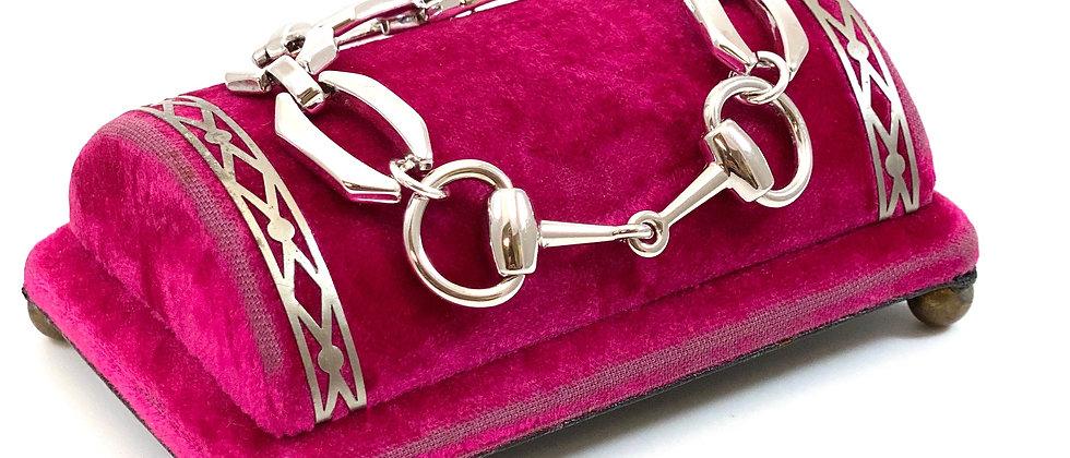 Repurposed Vintage Gucci Silver Horsebit Link Bracelet
