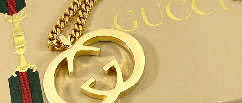 Repurposed Vintage Gucci Large Gold GG Long Curb Chain Necklace