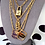 Thumbnail: Repurposed Louis Vuitton Large Navy & Gold Trunk Rare Charm Necklace
