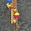 Thumbnail: Repurposed Louis Vuitton Petite Gold LV Monogram Ball Charm Necklace
