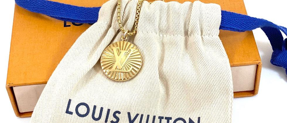 Repurposed Very RARE Louis Vuitton Large Gold LV Monogram Necklace