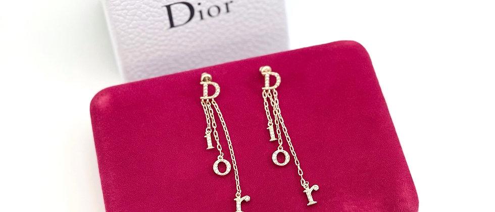Repurposed Dior Crystal Charms Chandelier Dangle Earrings