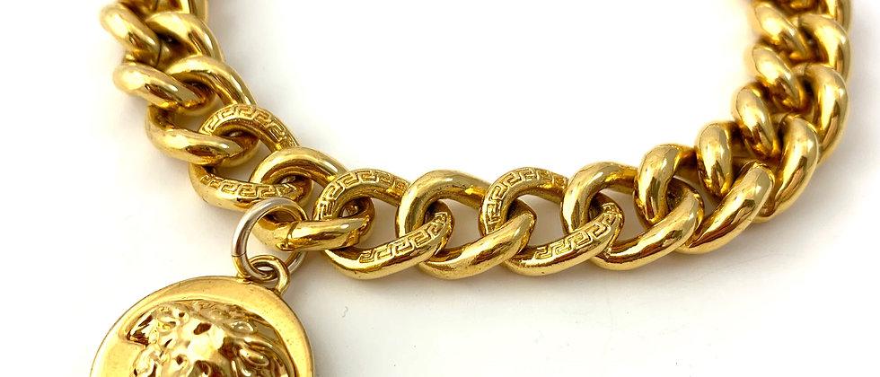 Repurposed Versace Medusa Gold Charm Bracelet