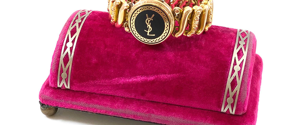 Vintage Repurposed YSL 1940's Gold Filled Expansion Locket Bracelet