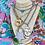 Thumbnail: Repurposed Saint Laurent HUGE Silver Star Lock Choker Statement Necklace