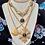 Thumbnail: Vintage Repurposed YSL Large Gold Sunburst Long Pendant or Choker Necklace