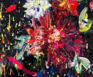 花をモデルに描いた絵は、花火になりました。