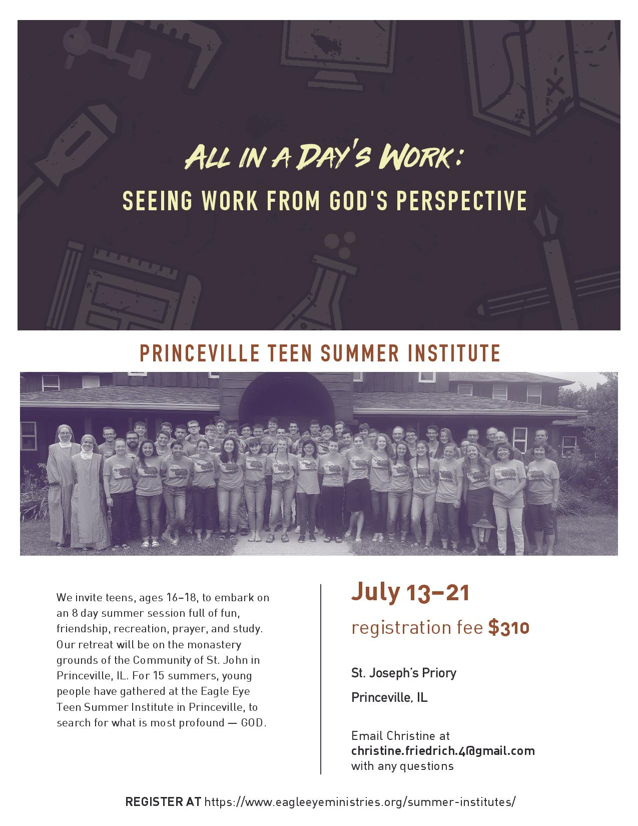 Princeville Eagle Eye, Catholic Summer camp for Teens