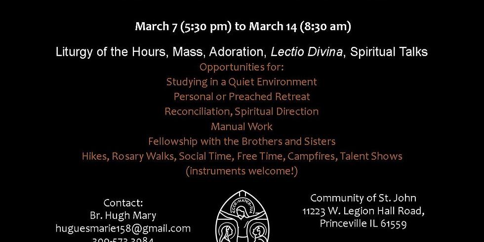 2020 Spring Break Student Retreat
