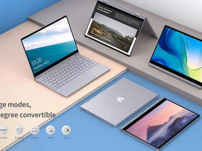BMAX Y13 2 in 1 Notebook  mit Touchscreen und um 360° schwenkbar