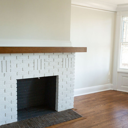 Fireplace refinished